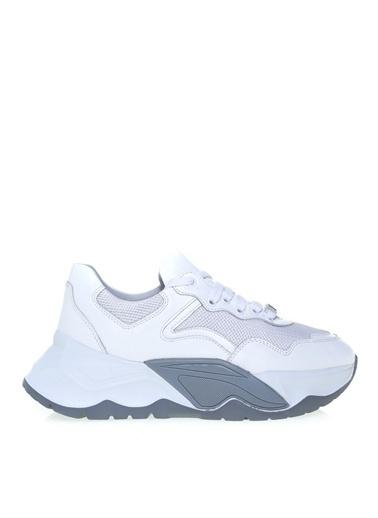 Fabrika Fabrika Deri Beyaz Kadın Sneaker Beyaz